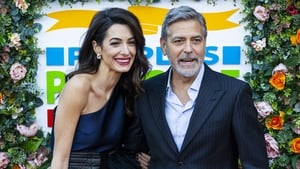George Clooney pictured with wife Amal