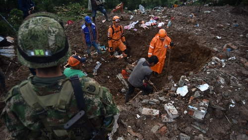 Landslide in southwestern Colombia kills 17