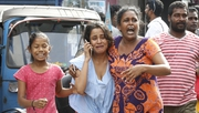 Locals were evacuated after the blast went off in a van in Colombo