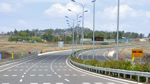 Chinese firms were involved in building the Addis Ababa-Adama Expressway in Tulu Dimtu