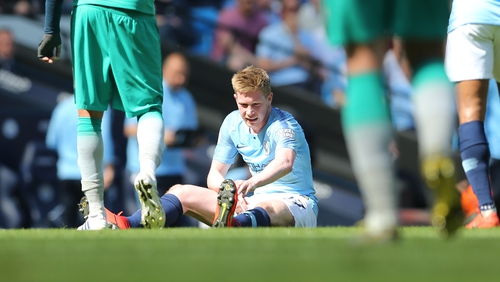 Kevin De Bruyne will not play against Manchester United due to a muscular problem