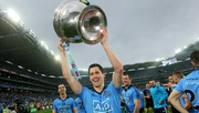 Rory O'Carroll celebrates the 2015 All-Ireland final victory, his last game for Dublin