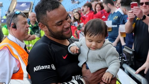 Billy Vunipola with family after the Munster game