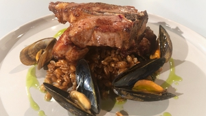 JP McMahon's Connemara Lamb Chops with Mussels and Mint.