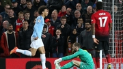 Leroy Sane found the back of the net 15 minutes after his introduction at Old Trafford