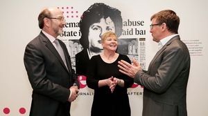 Brian MacCraith, President of DCU, Miriam Corcoran, Interim librarian at DCU and David Meehan, Associate Director, Special Collections & Archive at DCU Library