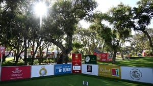 A view of the firs tee at the Royal Golf Dar Es Salam