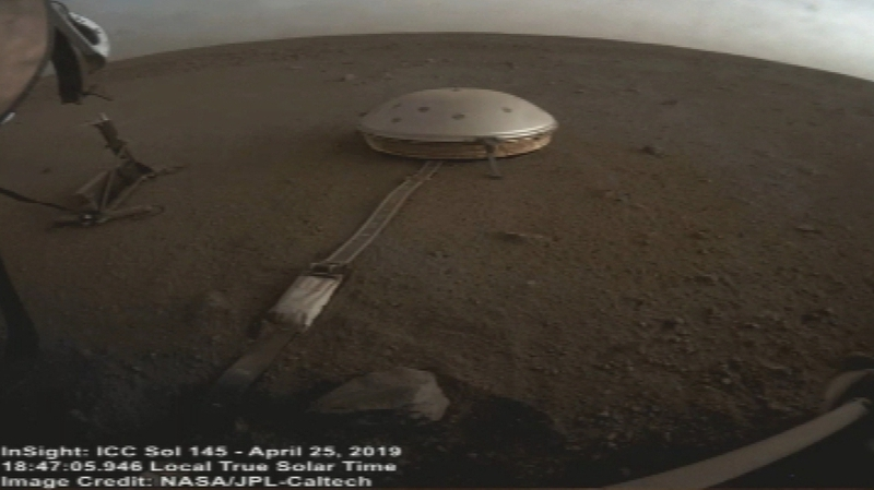 InSight spots clouds on the Red Planet