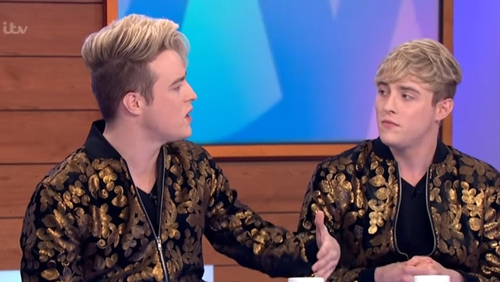 John and Edward Grimes lost their mother in February Screengrab: ITV/Loose Women