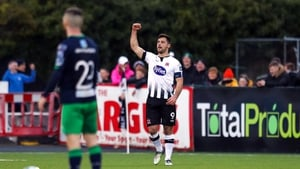Pat Hoban celebrates scoring for Dundalk