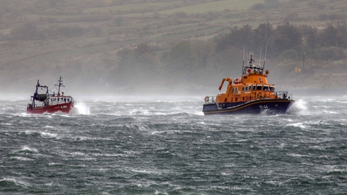 The callout was made by the RNLI during a severe weather alert