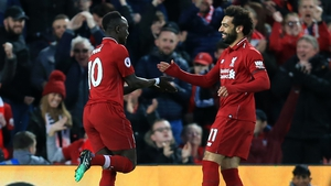 Sadio Mane (L) and Mo Salah were in lethal form