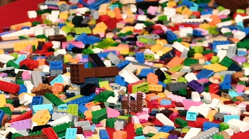 Real Lego bricks seen at a charity event in Poland