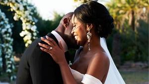 Newlyweds Idris Elba and Sabrina Dhowre. Image: Instagram/BritishVogue