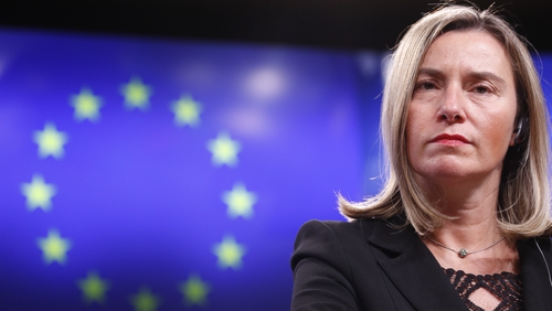 Federica Mogherini said the pact was key to 'contributing to international efforts to ensure peace, security and stability'