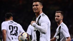 Ronaldo's powerful second-half finish took his league tally to 20 goals this season