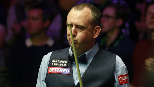 Mark Williams was in hospital overnight after complaining of chest pains following the first session on Friday