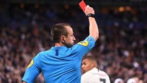 Kylian Mbappe was sent off two minutes before the end of the extra period, depriving his team of a key asset for the shootout