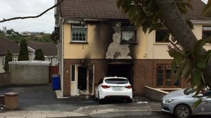 Extensive damage was caused to a house in Loughboy
