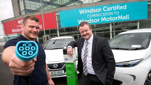 Windsor brand ambassador and Ireland rugby player Jack McGrath with Peter Nicholson, Managing Director of Windsor