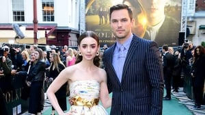 Lily Collins and Nicholas Hoult attend the Tolkien UK premiere at The Curzon Mayfair