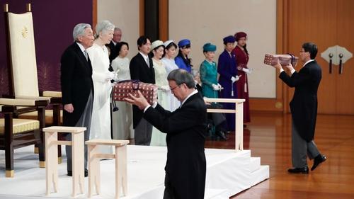 Emperor Akihito has abdicated in favour of his son
