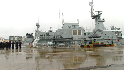 The new €60moffshore Navy patrol vessel was named and commissioned today