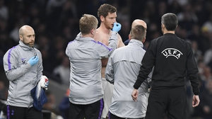 Jan Vertonghen suffered a worry injury against Ajax in the first leg