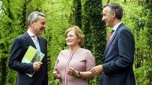 Gerry Britchfield, Acting CEO at Coillte, Bernie Gray, Chairperson and Fergal Leamy, outgoing CEO