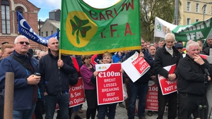 Farmers staged a protest outside Cork City Hall