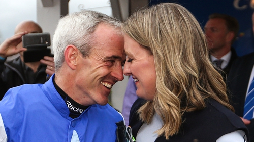 Ruby Walsh enjoys a moment with his family following his retirement