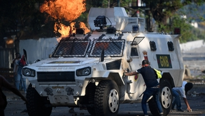 The death came amid protests called for by the opposition leader Juan Guaido