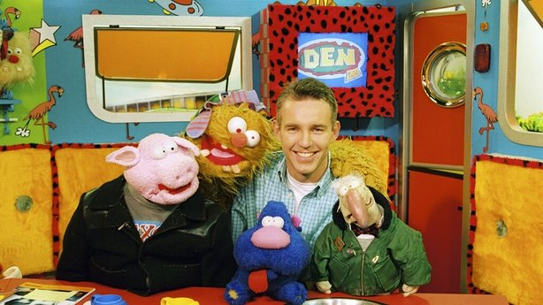 Ray D'Arcy with Snotser, Soky, Zuppy and Dustin (1996)