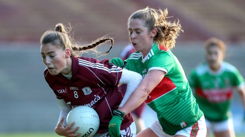 Áine McDonagh in action against Mayo earlier in the league