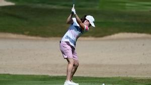 Leona Maguire on the 15th hole at the Omega Dubai Moonlight Classic
