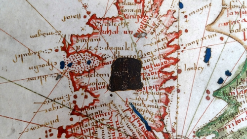 A detail from Jacopo Russo's 1528 map of Europe. Photo:Universal History Archive/ UIG via Getty Images