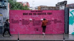 The Gratitude Wall at The Bernard Shaw. Photo: HG Creations