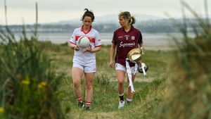 Martina O'Brien of Cork (L)  or Tracey Leonard of Galway will lift the Division 1 trophy on Sunday