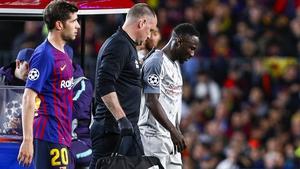 Naby Keita suffered the injury against Barcelona