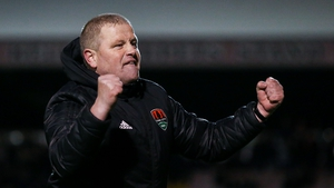 Cotter celebrates the win at Dalymount