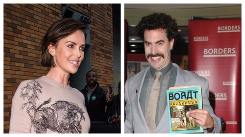 "Theron: ''I went to go see Borat I had a pre-existing injury in my neck - a herniated disk in my neck""."