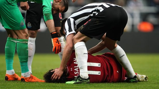 Mohamed Salah stretchered off at Newcastle