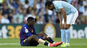 Ousmane Dembele went off injured as Barcelona were beaten