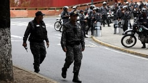 The military was deployed as demonstrators marched towards the president's residence