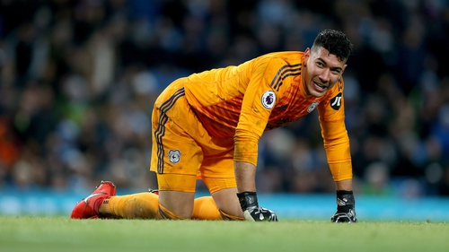Etheridge has managed nine clean sheets in the Premier League this season