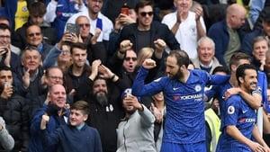 Gonzalo Higuain scored Chelsea's third