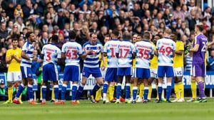 Players line up for a guard of honour for Reading's John O'Shea
