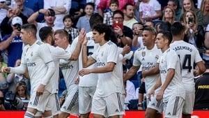 Mariano celebrates with teammates