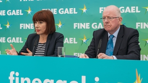 Ministers Josepha Madigan and Charlie Flanagan at the campaign launch