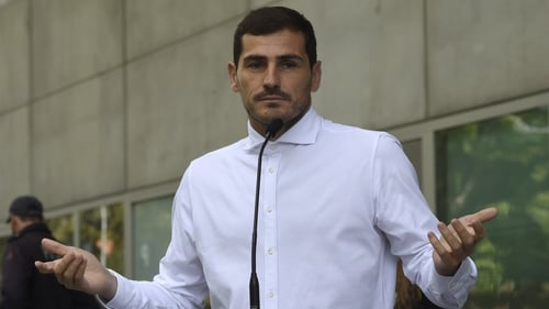 Iker Casillas was taken ill during a training session